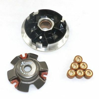 HIGH PERFORMANCE VARIATOR SET W/15gm ROLLERS FOR SCOOTER MOPED 125 150cc ATV