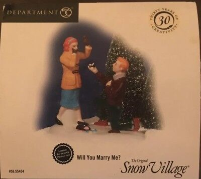 "NIB Department 56 Snow Village ""Will You Marry Me?"" # 55404 Special Edition!"