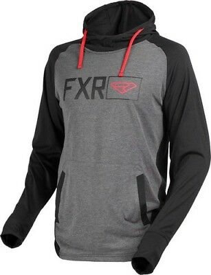 New Fxr M Terminal Tech Po Hoodie M  Black/charcoal Heather/red - 170913-1006__