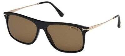 1a027eb6ae TOM FORD SUNGLASSES FT0588 MAX-02 01E Shiny Black 57MM -  235.00 ...