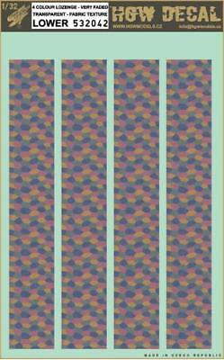 HGW 1:32 Transparent 5 Color Lozenge Faded Lower Decal Sheet #532033