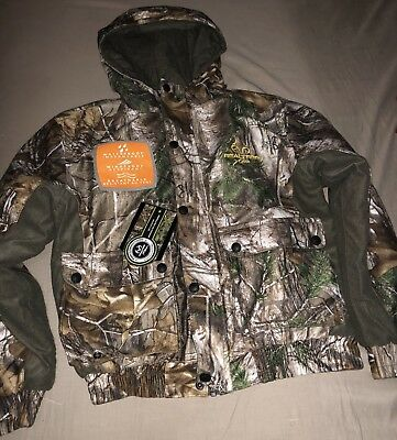 RealTree  Xtra Youth Waterproof Insulated Hooded Jacket 10-12 NEW