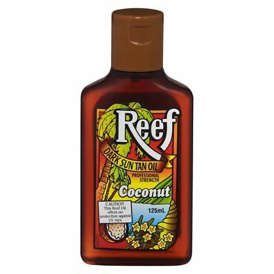 Reef Dark Sun Tan Oil With Coconut 125Ml Professional Strength No Uv Protection