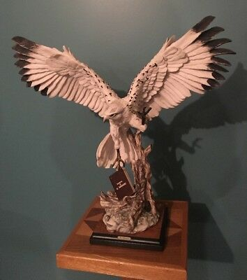 G Armani Large White Hawk Italian Sculpture Signed Wings Are in Flight BEAUTIFUL
