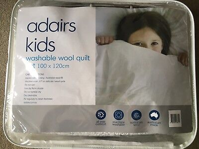 Adairs kids Wool Quilt Baby baby Nursery Cot Bedding fitted Sheet cover Set boys