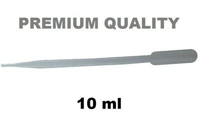"""10ml LARGE PLASTIC PIPETTE 11.5"""" LONG to DECANT BODY GLUE DISPENSER PIPPETTE PET"""