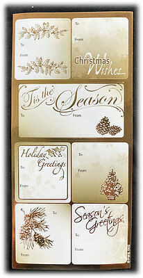 Other vintage greeting cards vintage greeting cards paper pmg target gold foil christmas holiday greetings peel n stick gift tags stickers m4hsunfo