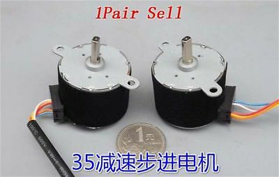 2pcs 35BY412 DC12V 4-Phase Gear Stepper Motor Permanent Magnet Gear Ratio 1:42.5