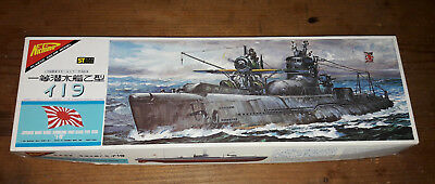 Nichimo Model Kit 1/200 Japanese SUBMARINE I-19 Type OTSU Motorized MIB U-Boot