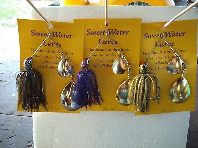 sweet water lures,3 x spinner baits..cod ,yella ,lures