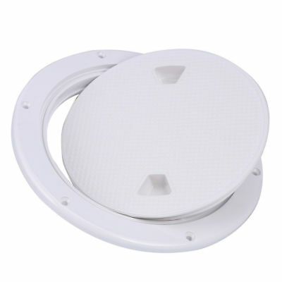 6'' ABS White Round Deck Plate Inspection Hatch Marine Screw Out Boat Access New