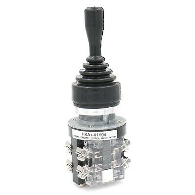 Monolever Joystick Switch HKA1-41Y04 Latching AC 380V 15 Amp 15A 4NO 4 Position