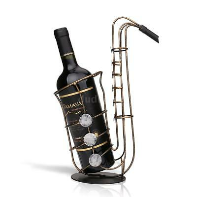 Christmas TOOARTS Metal Sax Wine Rack Beautiful And Practical Rack Crafts X4Y2