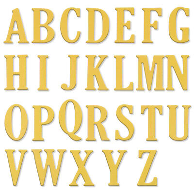 Large alphabet letters 0 9 a z cutting dies stencils for Large letter die cuts