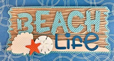 Beach Life scrapbook title