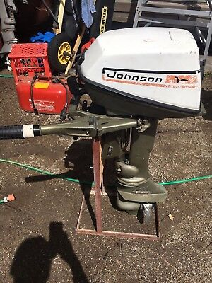 JOHNSON 6hp - 6R73S - 1973 MODEL - running with tank