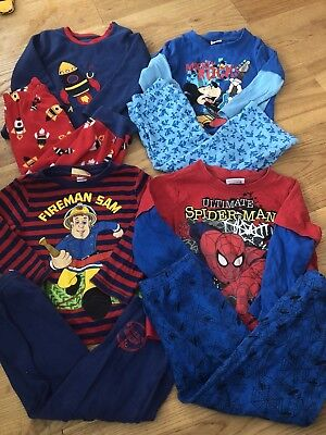 4x Boys Pyjamas Bundle - Age 2-3 Yrs