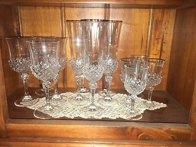 Set Of Crystal? Glasses 5 Champagne, 4 Wine & 4 Port/sherry