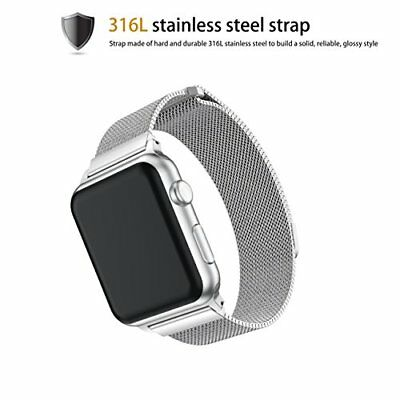 Stainless Steal Band 42mm Milanese Magnetic Closure Apple Watch Series 3 Silver