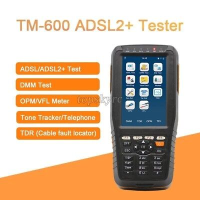 TM-600 ADSL2 + ADSL/ADSL2+ /DMM Line Network Meter Tester DSL Support All-in-one
