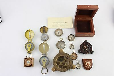 Lovely Collection of Compasses and Maritime Sun Dials etc