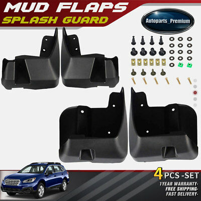 NEW 4pcs Front and Rear Splash Guards Mud Flaps for Subaru Outback 2015 2016
