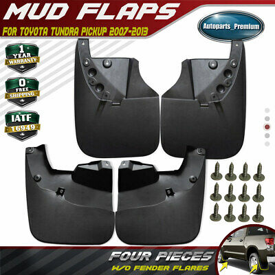 NEW 4pcs Front and Rear Splash Guards Mud Flaps for Toyota Tundra 2007-2012 2013