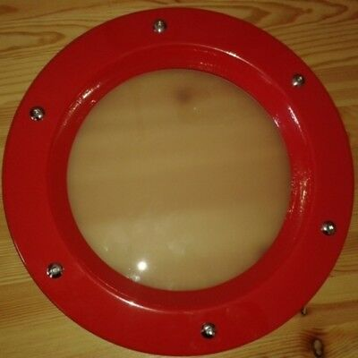 PORTHOLE FOR DOORS phi 350 mm. Red (RAL 3020)