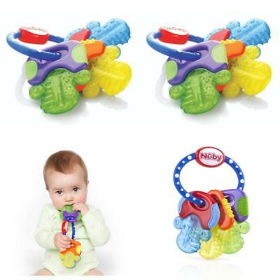 Hard & Soft Teething Keys For Baby Toddler Ring Toy Teether Soother BPA Free