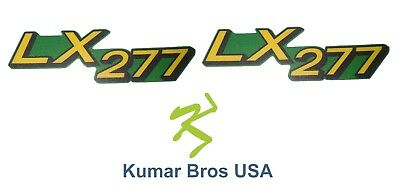 New Lower Hood Set of 2 Decals Replaces M146005 Fits John Deere LX277 Up S/N