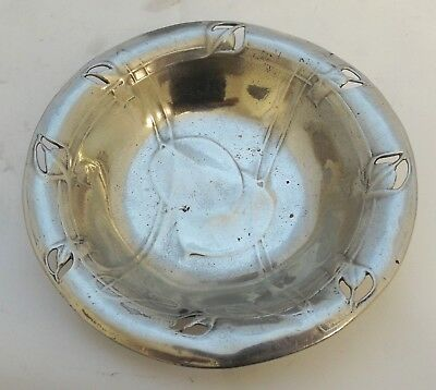 extremely rare liberty & co tudric pewter trinket dish  archibald knox 0546