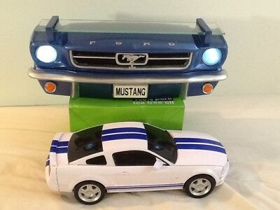 Ford mustang display wall shelf & model car. from USA.