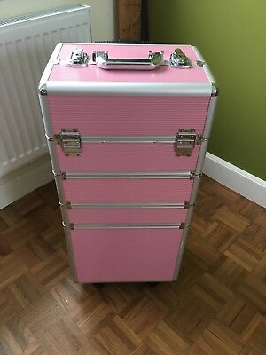 Beautician / cosmetic / craft / sewing box / art supplies trolley wheels