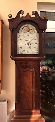 Antique Moon Phase Grandfather Longcase Clock C1800