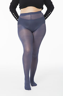Plus Size 40 denier Microfibre Opaque Coloured Tights for short women