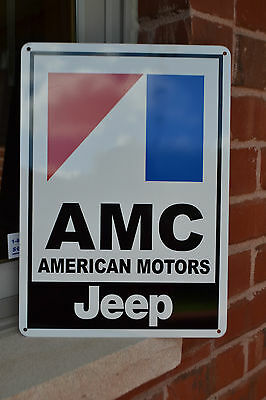"AMC JEEP  American Motors Racing Sign Service Mechanic 10""x14"" Garage FreeShip"