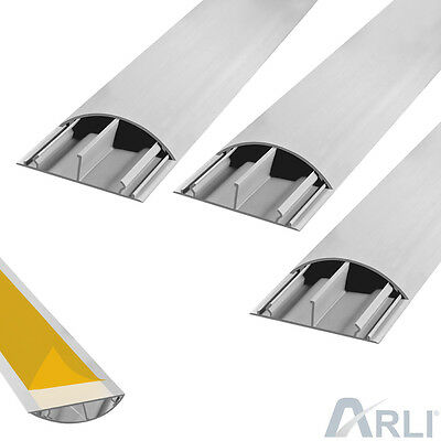Cable Channel Self Adhesive Floor TV Canal 3 x 1m 50 x 12 mm Cable Bridge Arli G