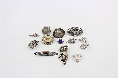 Collection of 12 x Vintage BROOCHES Mixed Styles&Themes -81g