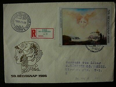 1986   Tag der Briefmarke   Mi.:   Block 185   B   FDC