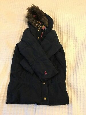 Joules Girls Winter Jacket Coat Size 5 Years Old