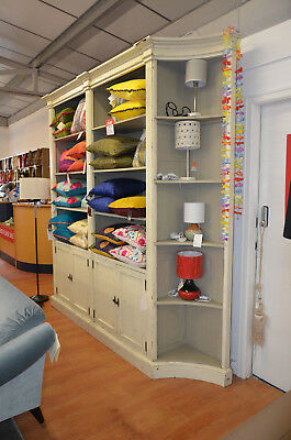 Giant Bookcase Large Shelving Unit With Cupboard Shabby Chic Painted Designer