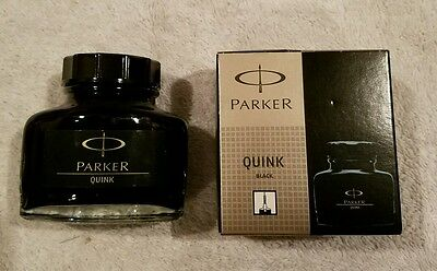 Parker Super Quink Permanent Ink Refill, 2-ounce Bottle, Black (S0037460)