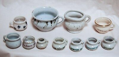 Lot of 11 Vintage Porcelain Minature Chamber Pots