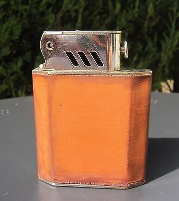 Antique French Art Deco Auto  Automatic Table Petrol Lighter Old vintage