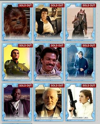 Topps Star Wars Card Trader Lightside Full Set Award Inc