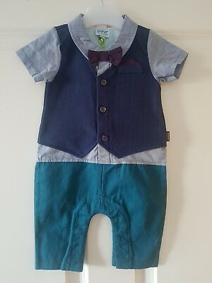 Brand New Gorgeous Ted Baker mock outfit romper 0-3 months