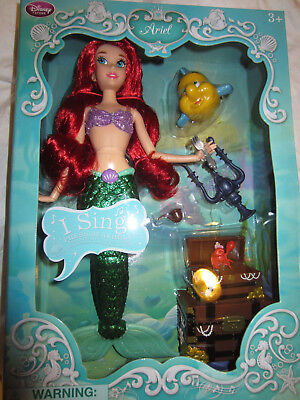 Disneystore Deluxe Singing Ariel Doll and accessories BNIB