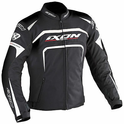 IXON EAGER Black Waterproof Motorcycle Motorbike Textile Jacket XXL