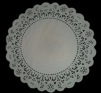 "(50) 10"" Round White French Lace Paper Doily Doilies Party Decoration Inches"