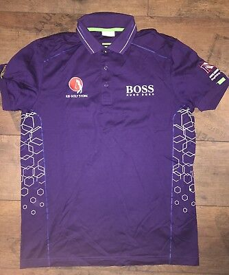 Hugo Boss Green Golf Polo Shirt (Size M) Kaymer/ Stenson